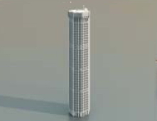 1 Skyscrapers / Architectural Model-13 3D Model