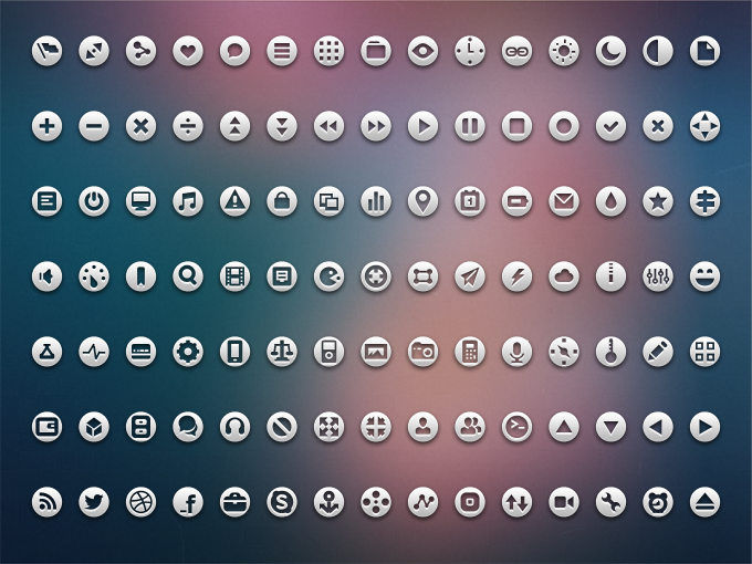 105 Loops Icon Set PSD