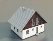 2 simple houses / Architectural Mode-32 3D Model
