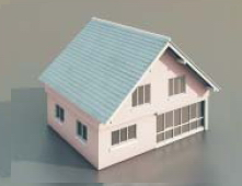 3 simple houses / Architectural Model-33 3D Model