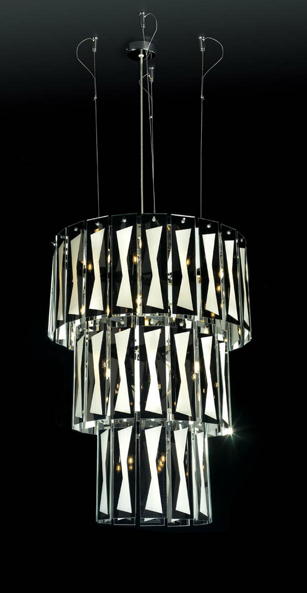 3-Tier Glass Pendant Lamp 3D Model