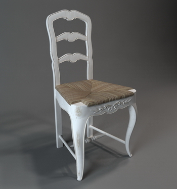 3D model of a European-style chair