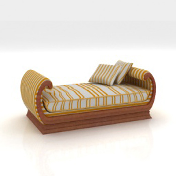 3D Model of Arab-style recliner