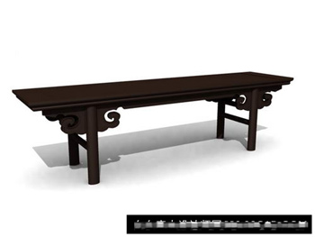 3D Model of Chinese ancient wood tables