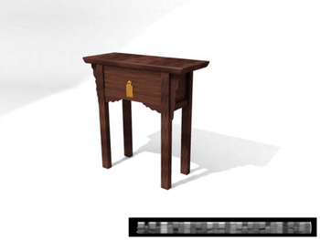 3D Model of Chinese retro wood cabinet