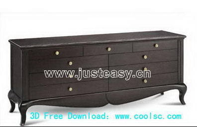 3D Model of Continental drawers