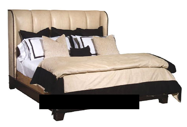 3D Model of European brown leather bed (including materials)