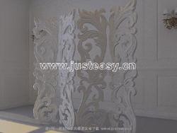 3D Model of European plaster wall (including materials)