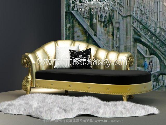 3D Model of European Royal Gold (including materials)