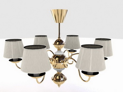 3D Model of European-style chandeliers