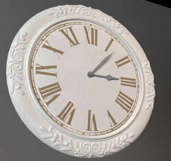 3D Model of European-style wall clock