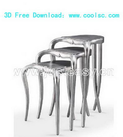 3D model of family utility chairs (including materials)