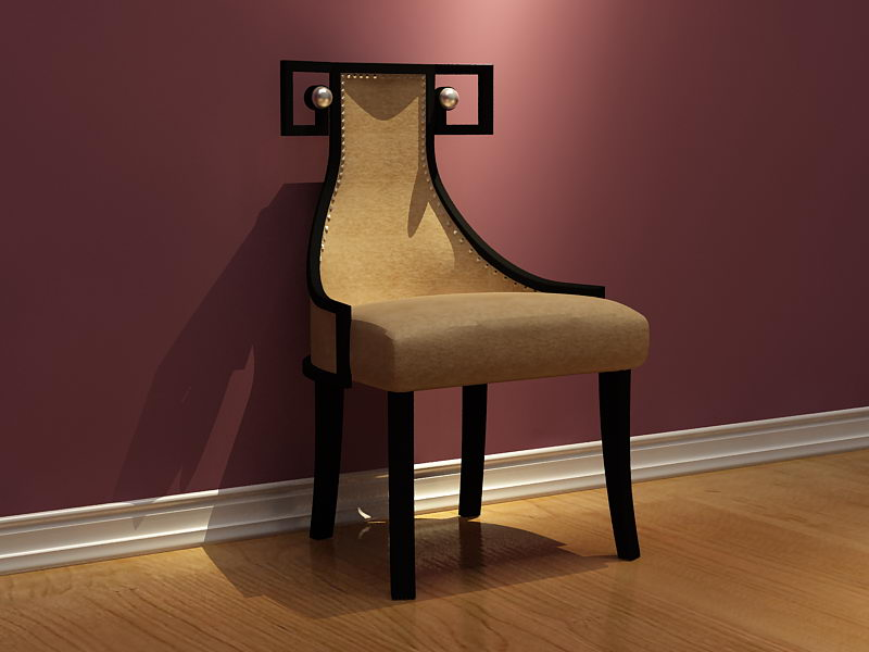 3D Model of leather chair alternative (including materials)