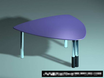 3D Model of plastic tables triangular fashion