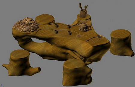 3D Model of Process root table