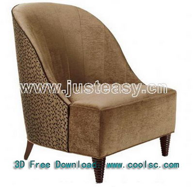 3D Model of retro sofa fabric (including materials)