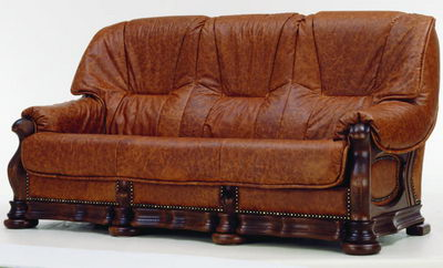 3D Model of sofa brown people