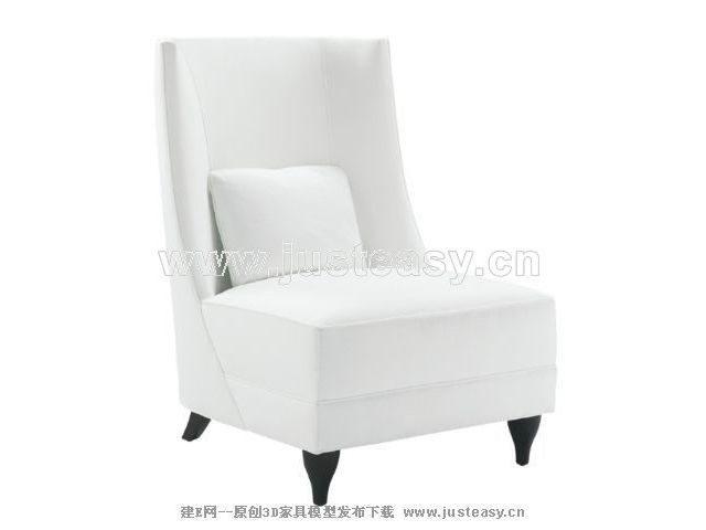 3D Model of sofa white back (including materials)