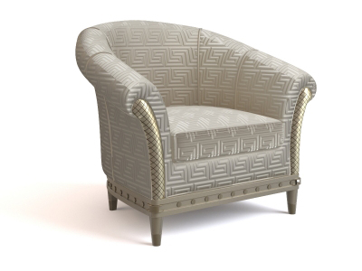 3D model of the classic European-style sofa, paragraph 4-3