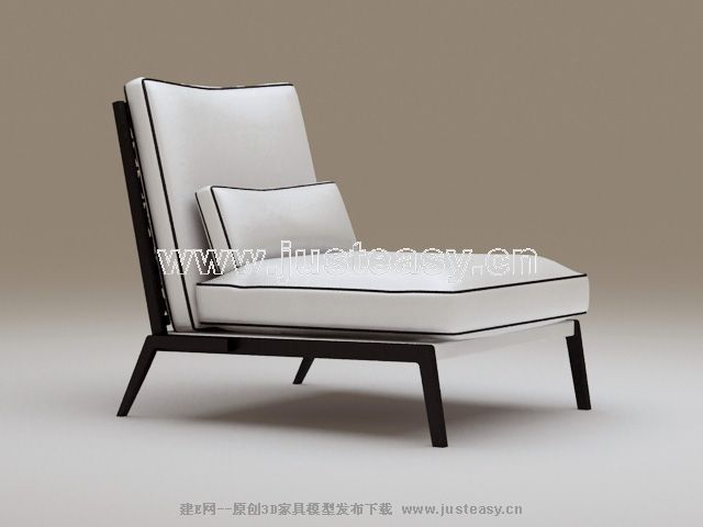 3D model of the classical black and white chair (with material)