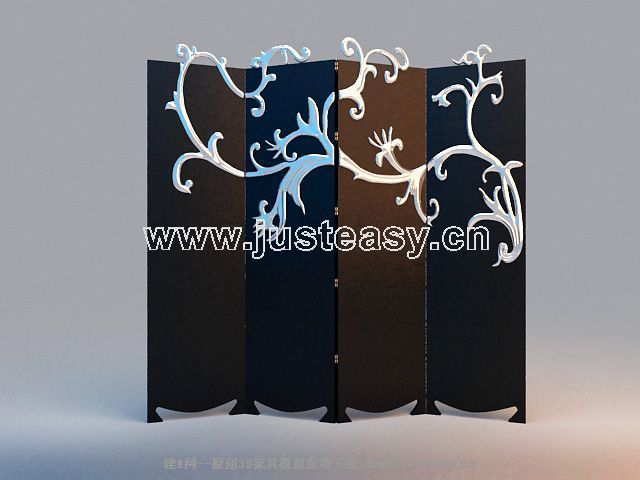 3D model of the modern sophisticated Sizhe screen (including materials)