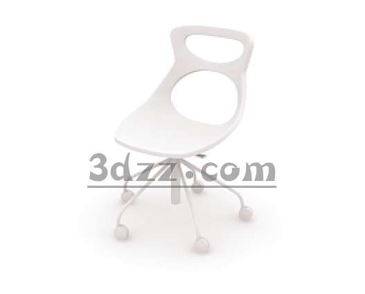 3D model of the new creative leisure chair (with material)
