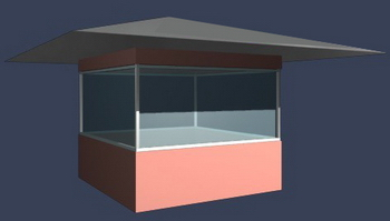 3D model of the security booth