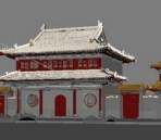3D model of the temple gate