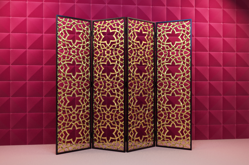 3D Model of wooden fine carved screen