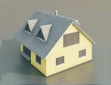 4 a house with two floors / Architectural Model-36 3D Model