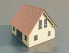 4 simple houses / Architectural Model-38 3D Model