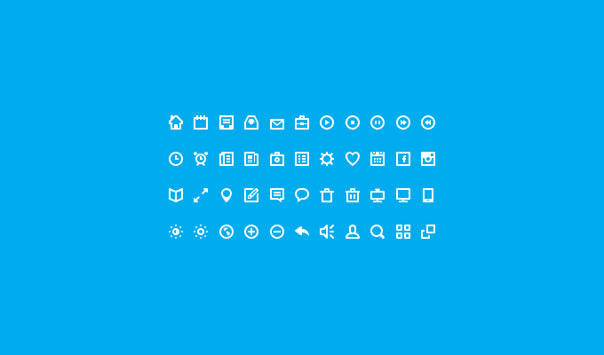 44 Free Icons PSD