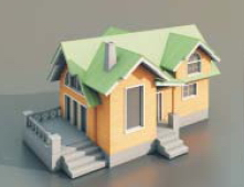 5 The countryside villa / Architectural Model-23 3D Model