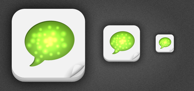 512px iPhone App Icon Template PSD