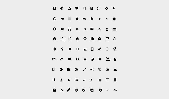 81 Glyph Icon Set PSD
