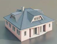 a house with one floor / Architectural Model-48 3D Model