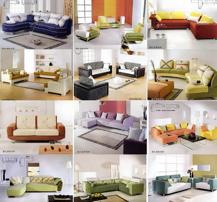A number of sofa collection 3D Model