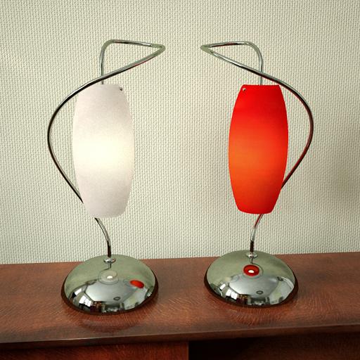 A pair of delicate desk lamp 3D models