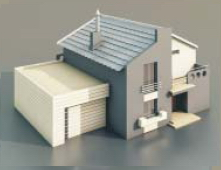 a Villa with a garage / Architectural Model-29 3D Model