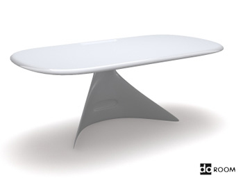 A white simple with desktop 3D Model