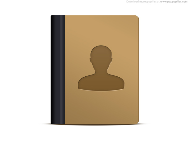 Address book icon PSD