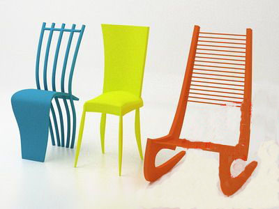 Alternative Furnitune�� Bright-colored Chair 3D Model