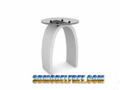 Alternative Furnitune�� Simple Bar Stool 3D Model