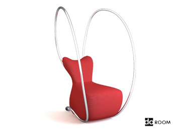 Alternative modeling red lounge chair 3D Model