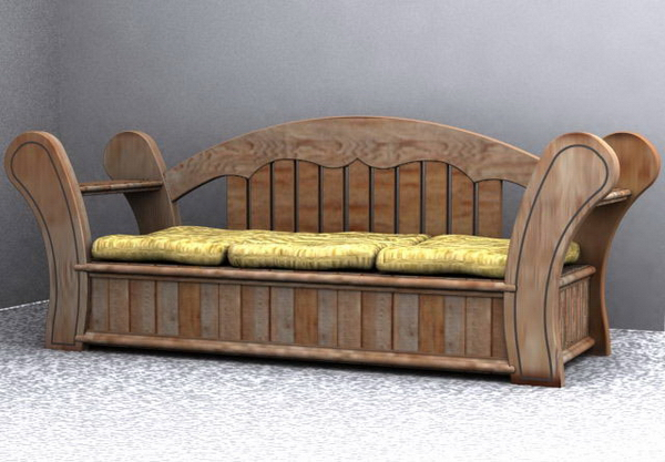 Ancient wooden furniture 2 3D Model