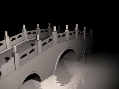 Antique bridge 3D