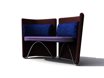 Avant-garde fashion sofa 3D Model