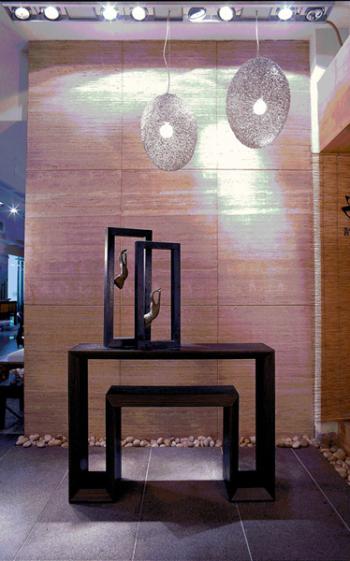 Bali logs porch furnishings cabinet 3D model