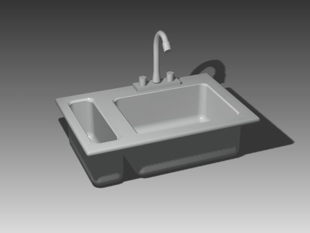 Bathroom -Bathtub 002 3D Model