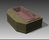 Bathroom -Bathtub 003 3D Model